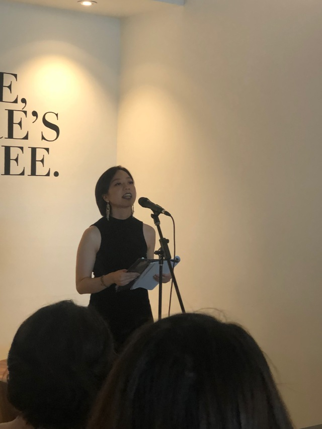 Photo of HAUNTIE reading at Readers for RAICES