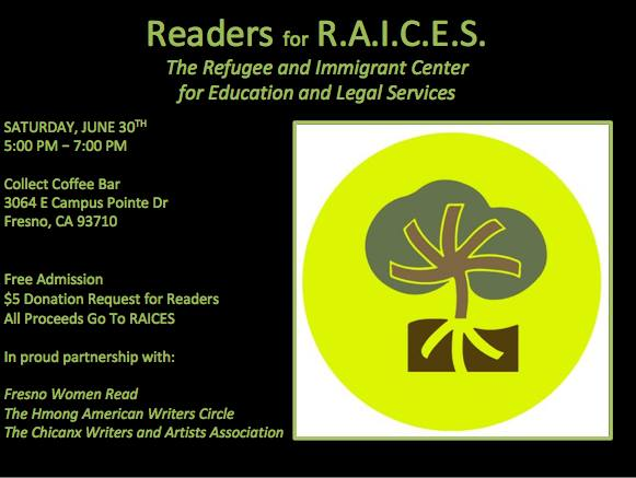 Flier for Readers for RAICES