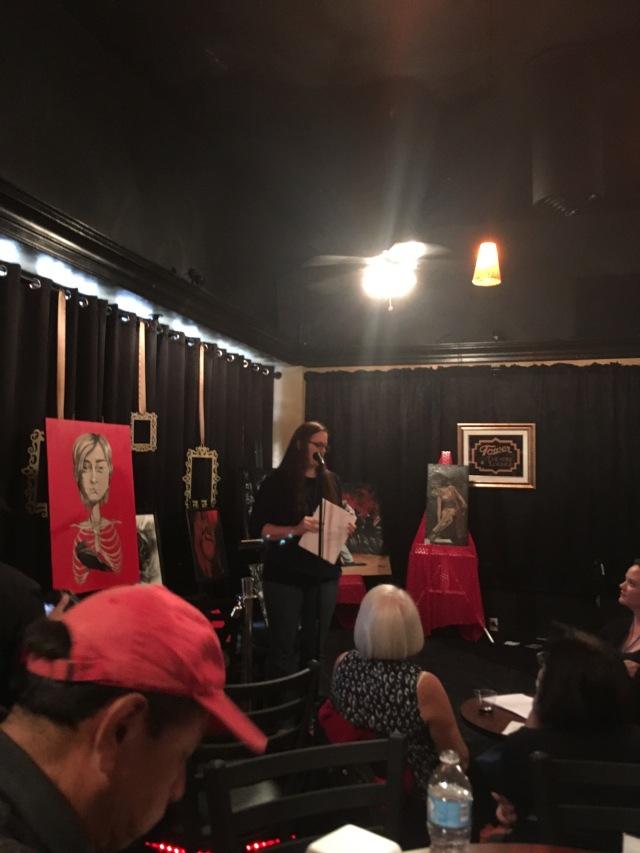 Photo of Jennifer Matteson reading at WAMFF 2016