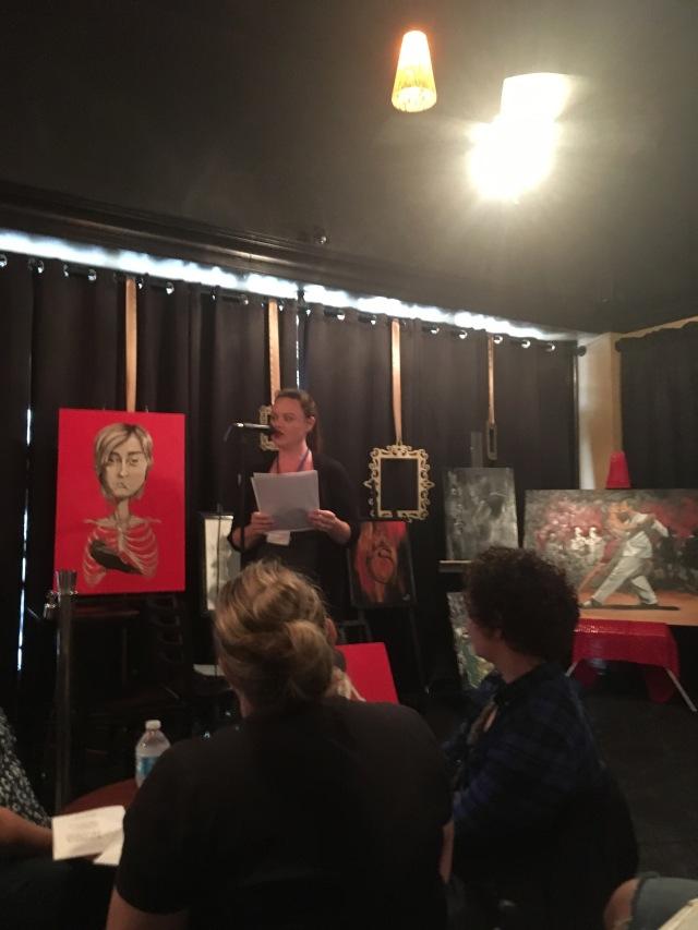 Photo of Melanie Kachadoorian reading at WAMFF 2016