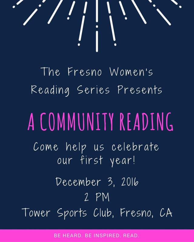 Flier for the first annual community reading