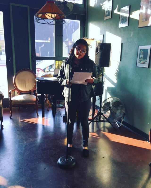 Photo of Esmeralda Gamez reading