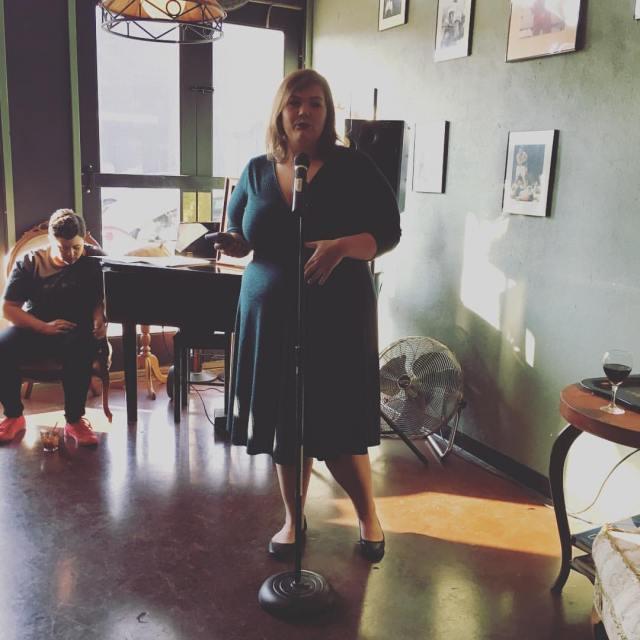 Photo of Megan Bronson reading