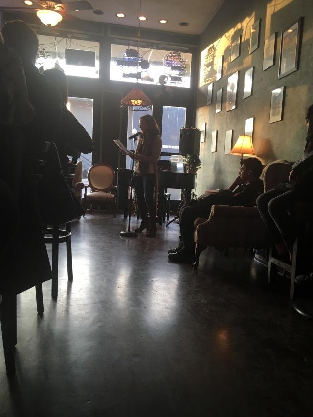 Photo of Michelle Patton reading