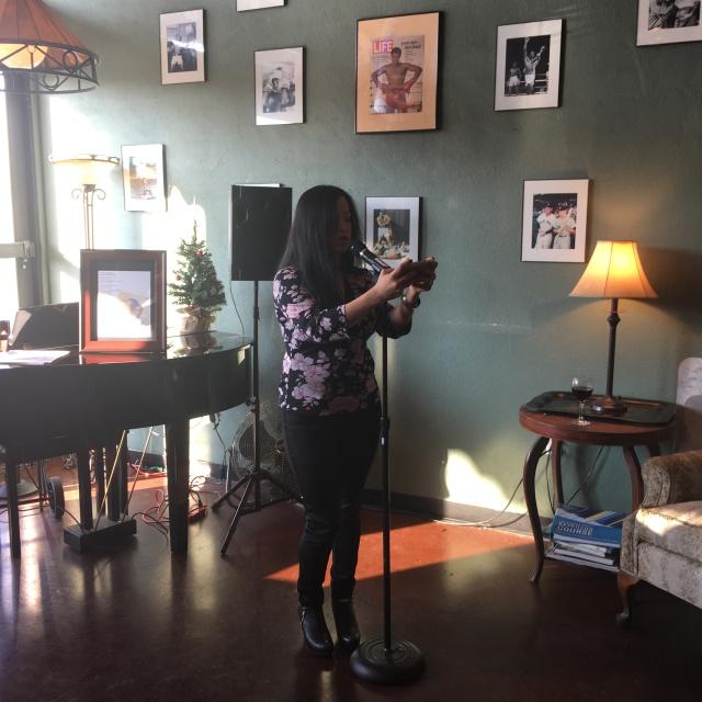 Photo of Sandra Arevalo reading
