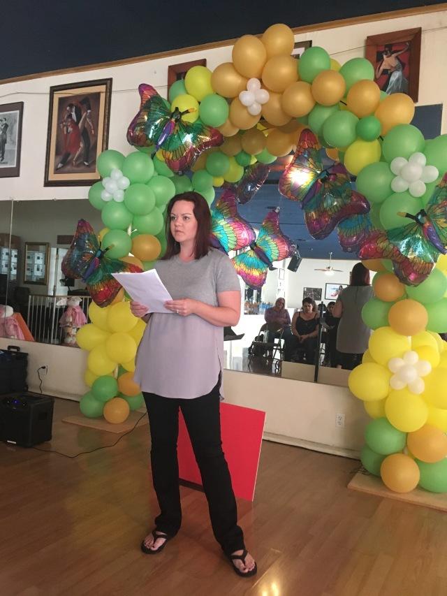 Photo of Melanie Kachadoorian reading