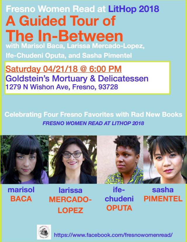 Flier for Fresno Women Read at LitHop 2018