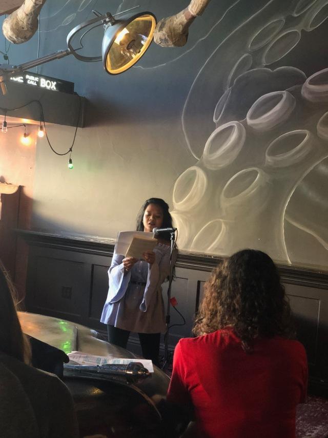Sasha Pimentel reading for Fresno Women Read at LitHop 2018