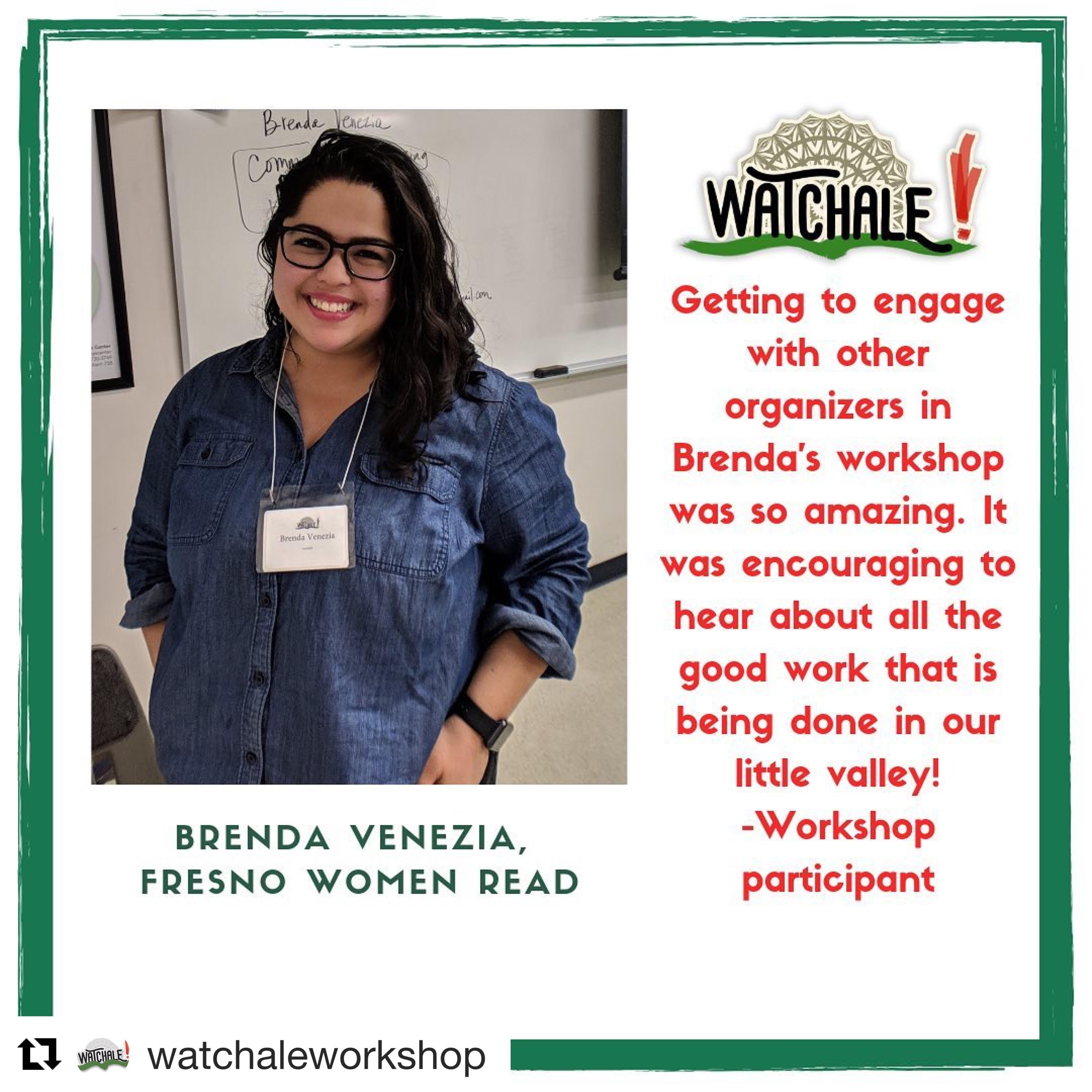 Workshop promo post from Watchale Workshop post