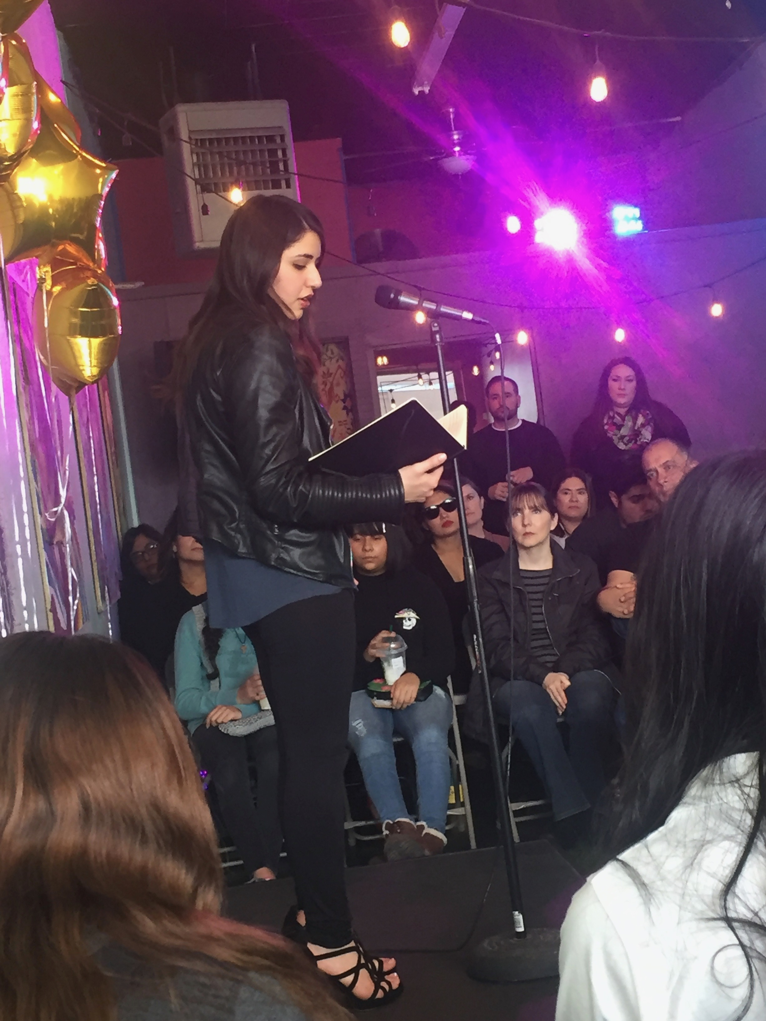 Payton Polanco at the 3rd anuual community reading